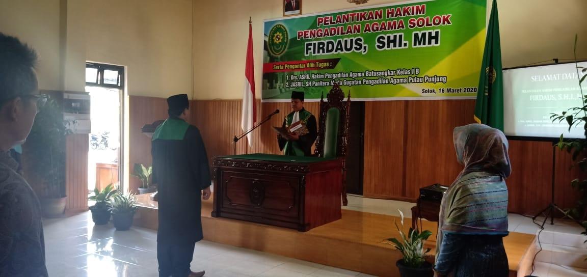 Pelantikan Hakim Firdaus,S.H.I.,M.H