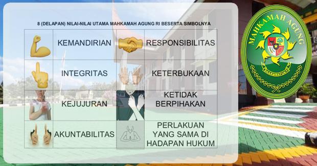 8 (Delapan) nilai Utama Mahkamah Agung